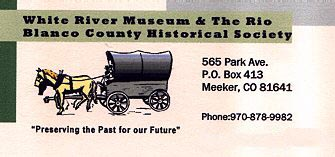Rio Blanco County Historical Society & White River Museum